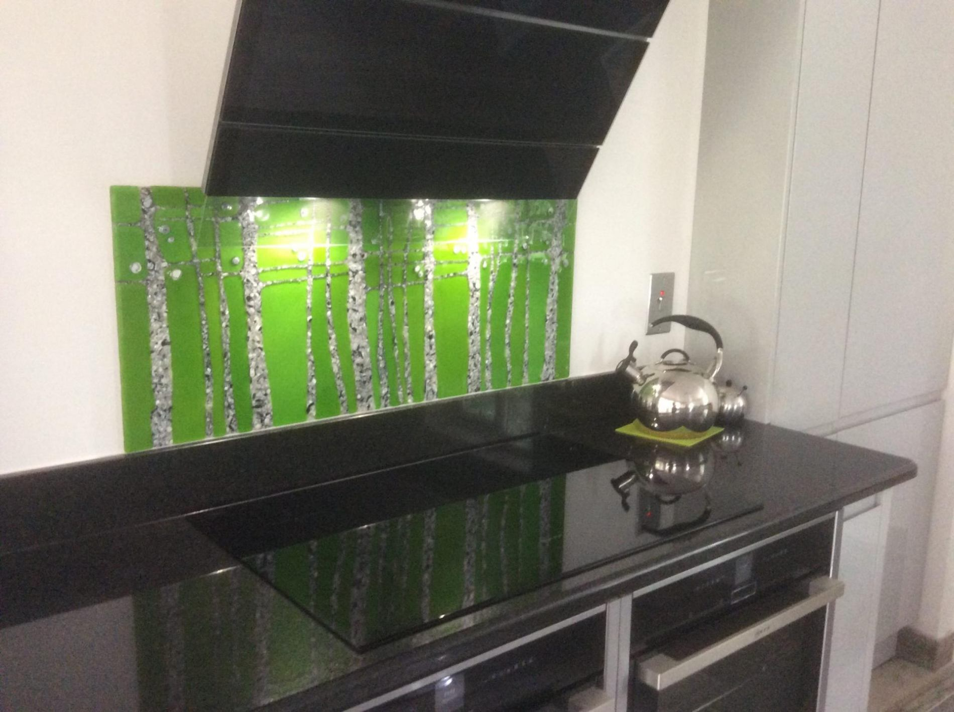 Pebble Trees Lime splashback